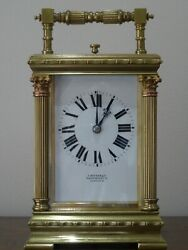 Quality Antique French Repeating Carriage Clock 1890/1900 - Fully Overhauled