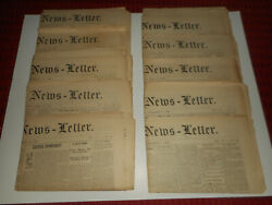 Antique 1890 Exeter News Letter New Hampshire Newspapers Lot Of 10 Old Ephemera