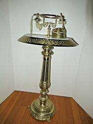 Collectibl Vintage Art Deco Table Rotary Dial Telephone Parker Pen Brass Marble