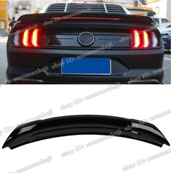 For 2015-2021 Ford Mustang Glossy Black Gt Style Trunk Spoiler Wing W/ Led Light