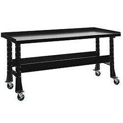 Mobile Trans Max Bench Steel Top 73 1/2w X 34 1/4d Gloss Black
