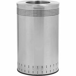 Commercial Zone Precision Series Imprinted 360 Stainless Steel Receptacle With