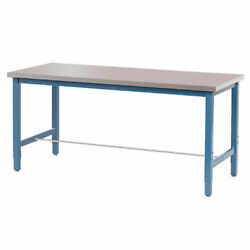 Production Workbench - Stainless Steel Square Edge - Blue 72w X 30d