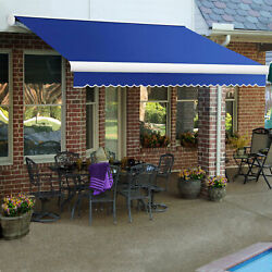 Awntech Retractable Awning Manual 8'w X 7'd X 10h Bright Blue