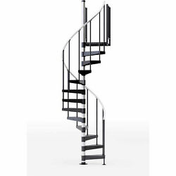 Reroute 36h Platform 2 Rails Spiral Stair Kit 42 Dia 12and039h Steel Treads