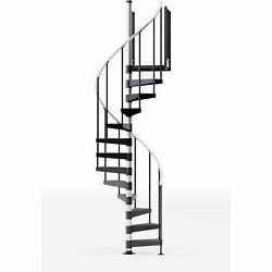 Reroute 42h Platform Rail Spiral Stair Kit 42 Dia 15and039h Steel Treads