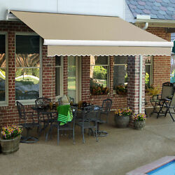 Awntech Retractable Awning Manual 18and039w X 10h X 10and039d Linen