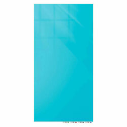 Ghentand174 Aria 4and039w X 8and039h Magnetic Glass White Board - Blue