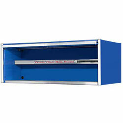 72 Professional Power Workstation Hutch In Blue
