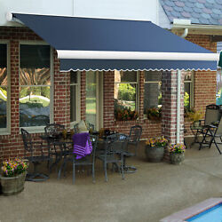 Awntech Retractable Awning Manual 8'w X 7'd X 10h Dusty Blue