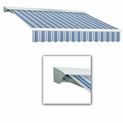 Awntech Retractable Awning Left Motor 20and039w X 10and039d X 10h Blue