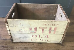 Guth Cola Drink 1935 Wood Crate Reading Pa Beer Soda Brewery Bottle Sign