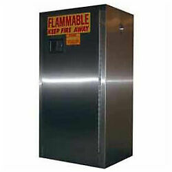 16-gallon Manual Close Flammable Cabinet Stainless Steel