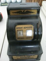 Rare Vintage Uncle Sam's Dime Register Bank Durable Toy And Novelty Corp Usa
