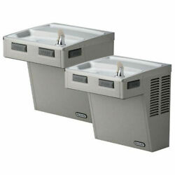 Elkay Wall Mount Ada Water Cooler Stainless Steel 2 Statio Wall Hung 115v 5