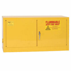 Flammable Liquid Safety Cabinet With Manual Close, 15 Gallon
