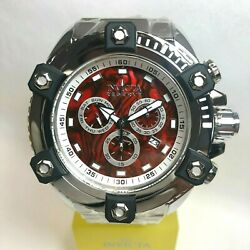 24325 Reserve Mens 63mm Silver/black Grand Octane Red Abalone Dial Watch