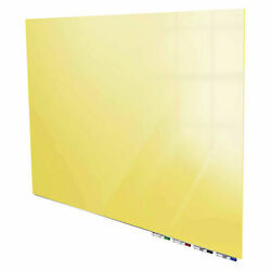 Ghentand174 Aria 6'w X 4'h Magnetic Glass White Board - Yellow