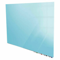 Ghentand174 Aria 8and039w X 4and039h Magnetic Glass White Board - Blue