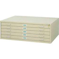 Safco 4998tsr 5-drawer Steel Flat File For 36 X 48 Documents, Tropic Sand