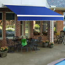 Awntech Retractable Awning Manual W X 8and039d X 10h Blue