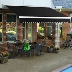 Awntech Retractable Awning Manual W X 8and039d X 10h Black