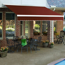 Awntech Retractable Awning Manual W X 8and039d X 10h Terra Cotta