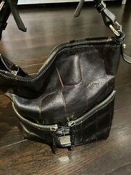 Dooney amp; Bourke Hobo and Matching Wallet Combo. Gorgeous Croc Embossed Leather $75.00