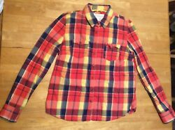 Aeropostale Plaid Brushed Cotton Top Shirt Button Front Long Sleeve Size Xl
