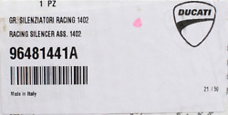Genuine Ducati Racing Silencer Assembly Pn 96481441a