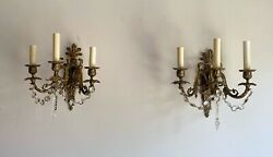 Vintage Electric Wall Sconces Pair