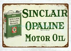 Sinclair Opaline Motor Oil Metal Tin Sign Vintage Reproduction Signs