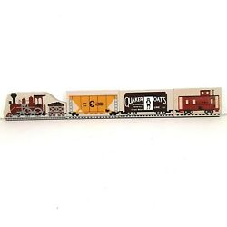 Cat's Meow 4 Piece Train Set Engine, Caboose, Quaker Oats And Chessie System Cars