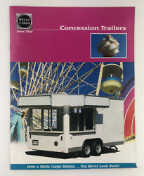 2006 Concession Trailers Wells Cargo Specs Options Pamphlet Flyer Catalog