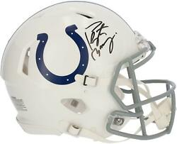 Peyton Manning Indianapolis Colts Signed Riddell 2020 Speed Authentic Helmet