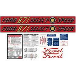 New 871 Ford Tractor Complete Decal Kit 871 Select-o-speed Quality Decals 🎯
