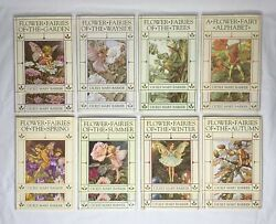 Set Of 8 Flower Fairies Books W/ Dust Jackets By Cicely Mary Barker 1990 Uk