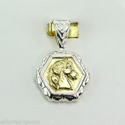 Slane And Slane 18k Yellow Gold And Sterling Silver Epona Horse Pendant