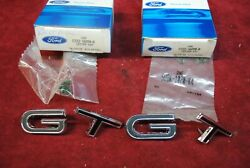 67 Nos Ford Mustang Gt Fender Emblem Set 4 C7zz 16098 A And C7zz 16098 B