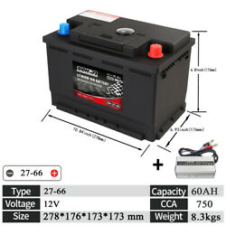 27-66 Car Lithium Ion Battery 12v 60ah For Automotive Hybrid Electric Vehicle