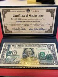 2009 Federal Reserve Note Colorized Statue Of Liberty World Trade Skyline