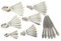 Silver Cutlery Set For 6 Persons 42 Items. Pattern Christiansborg. Denmark.