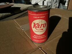 Vintage Karo Syrup Tin Can Unopened Kitchen Advertising Cookware Decor Collect