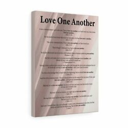 Bible Verse Canvas Love One Another Wall Art Christian Home Decor