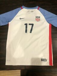 2016 Nike Usa Home Jersey 17 Pulisic Youth Large Soccer Copa America Centenario