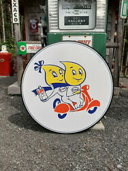 Xtra Large 37 Inch Esso Oil Drop Couple Sign