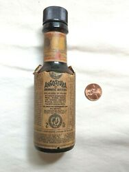 Vintage Antique Angostura Aromic Bitters Mini Bottle W/ Old Smelly Contents Lqqk