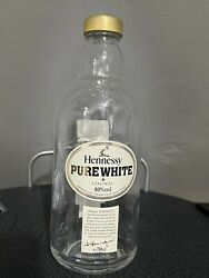 Genuine Empty Bottle Of Hennessy Pure White Cognac Collectible Bottle