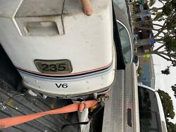 Johnson 235 Hp 6 Cylinder 2 Stroke Outboard Motor - Controls Not Included
