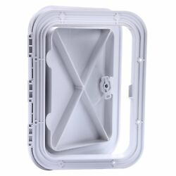 14-3/5x10-5/8 Amarine-made Marine Boat Deck Access Hatch And Lid-white